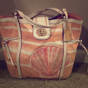 Coach seashell tote bag